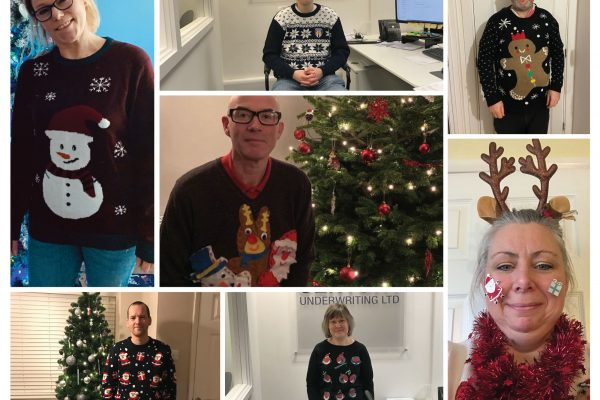 Christmas jumper collage